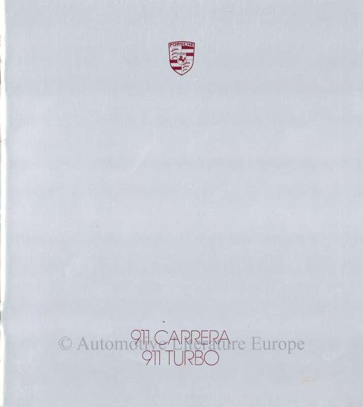 1987 PORSCHE 911 CARRERA / TURBO PROSPEKT DEUTSCH