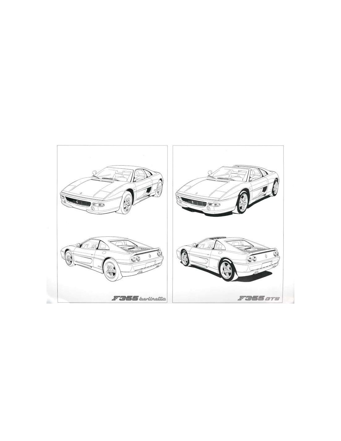 1995 FERRARI F355 OWNERS MANUAL