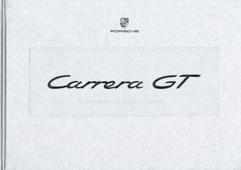 2003 PORSCHE CARRERA GT HARDCOVER PROSPEKT IN BOX ENGLISCH