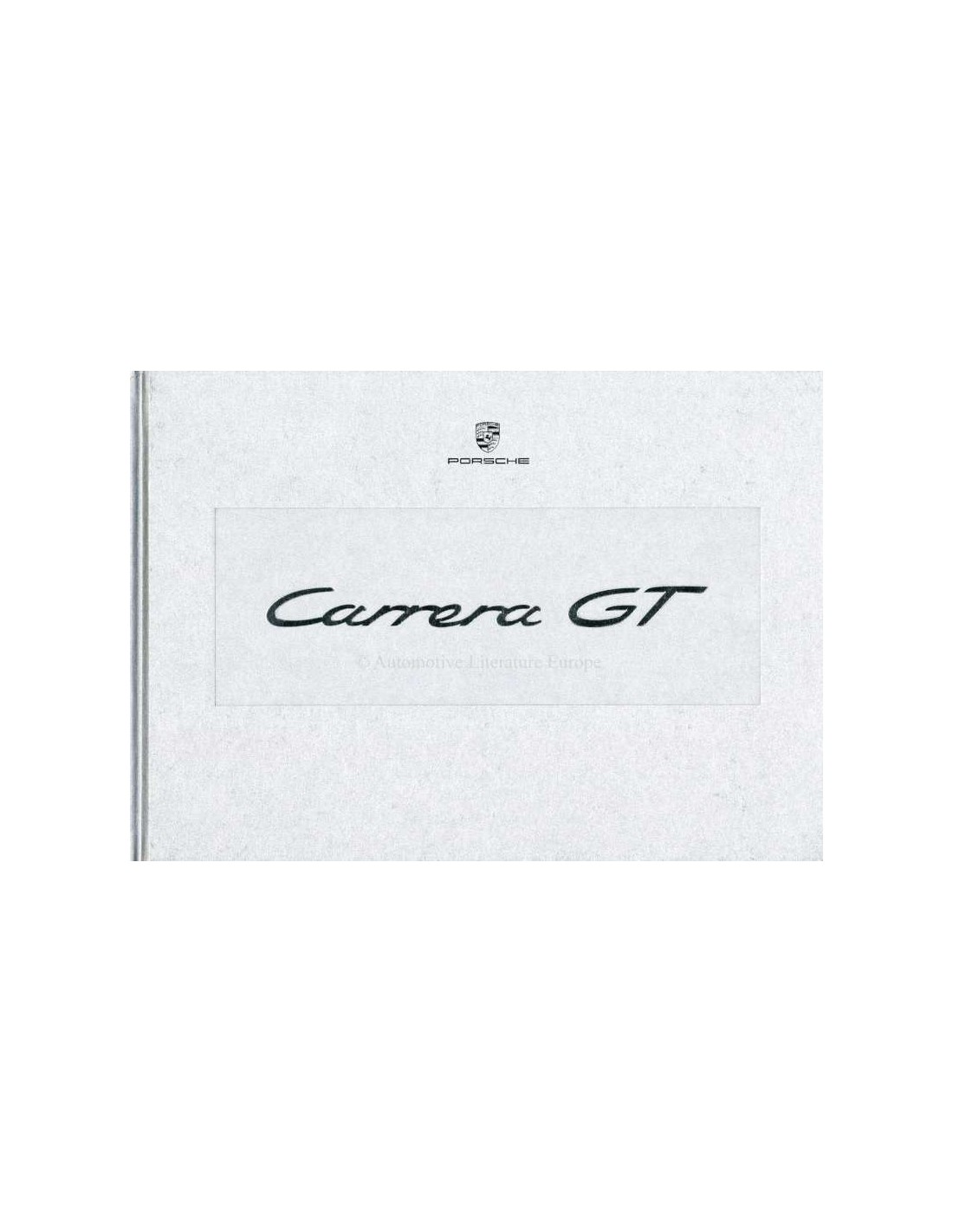 2003 PORSCHE CARRERA GT HARDBACK BROCHURE IN BOX GERMAN