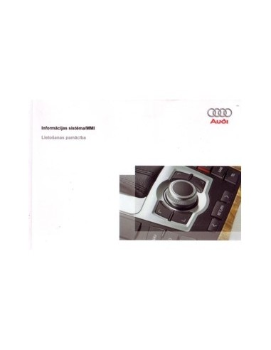2007 AUDI OWNERS MANUAL INFOTAINMENT MMI LETTISH