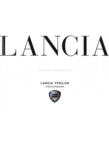 2006 LANCIA YPSILON OWNERS MANUAL DUTCH