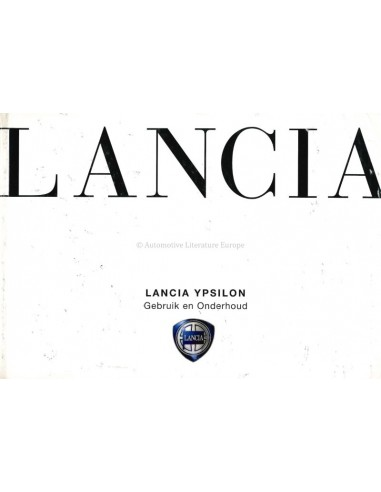 2003 LANCIA YPSILON OWNERS MANUAL DUTCH
