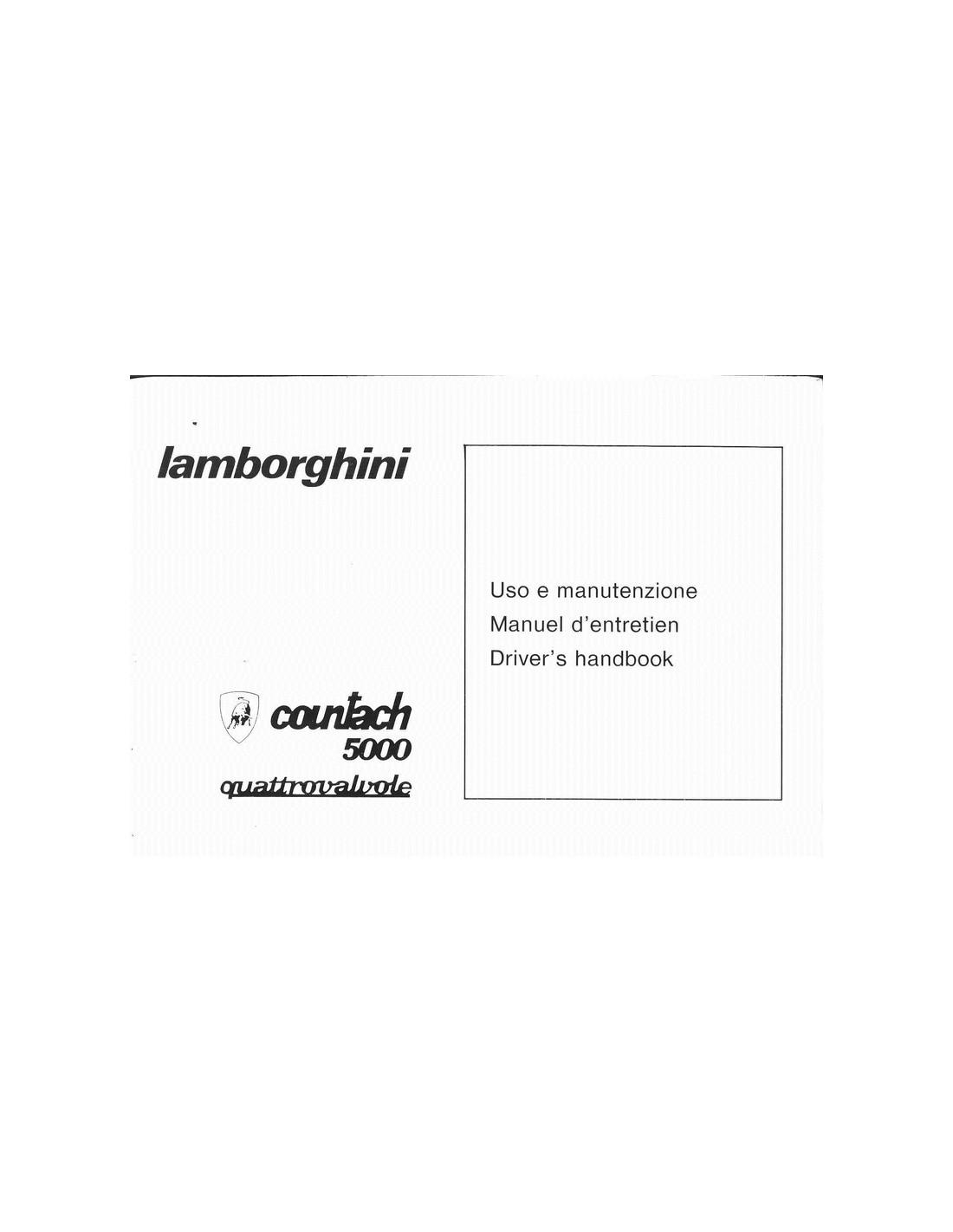 1986 LAMBORGHINI COUNTACH 5000 QV POUCH