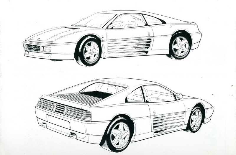 1993 FERRARI 348 TB OWNERS MANUAL 779/93