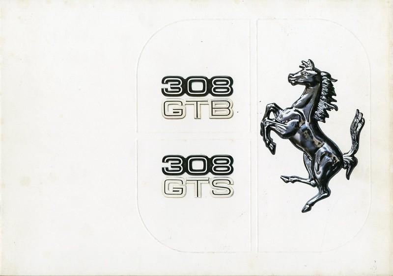1977 FERRARI 308 GTB / GTS BROCHURE 147/77