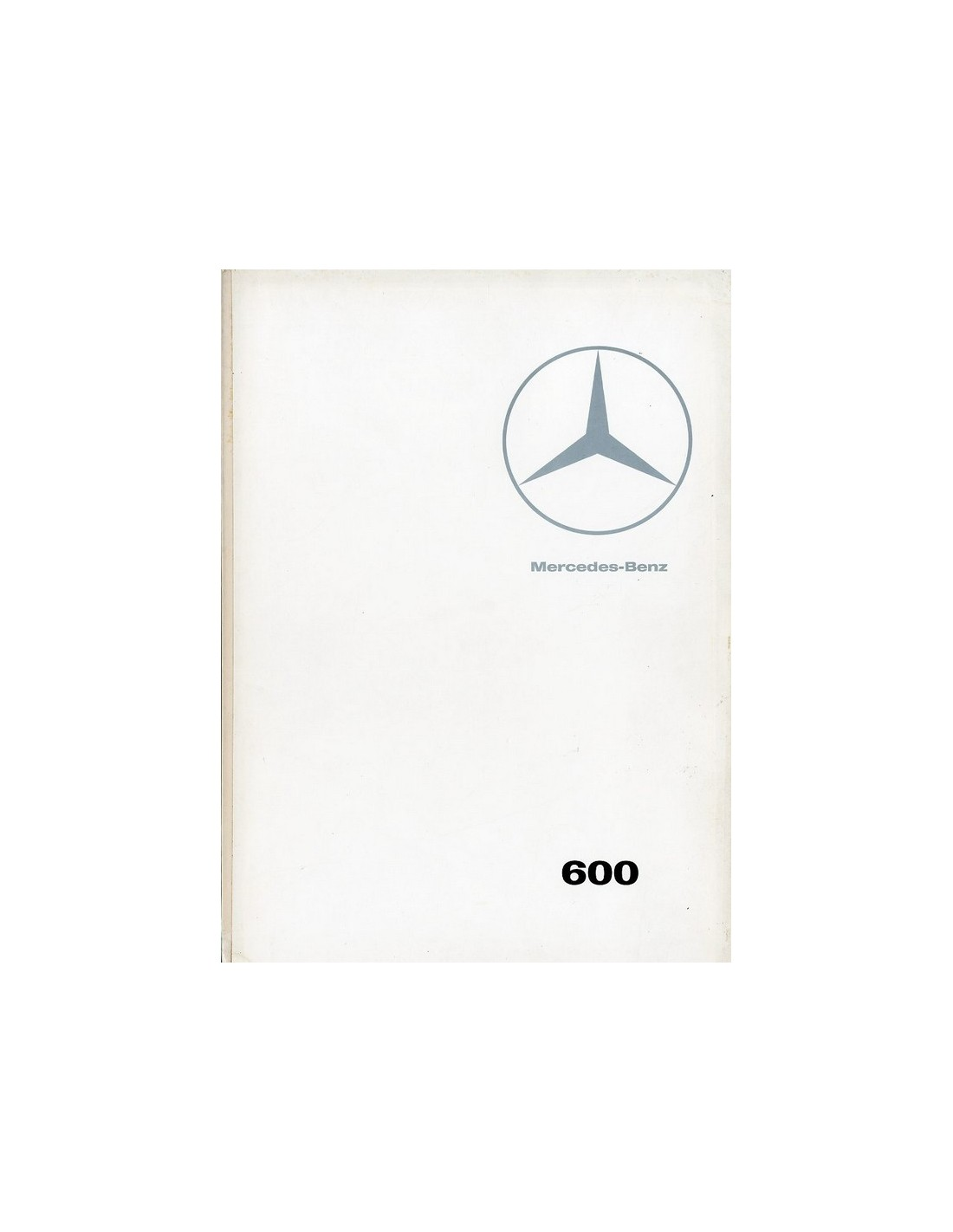 1966 MERCEDES BENZ 600 BROCHURE FRENCH
