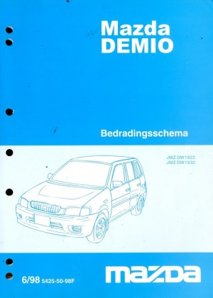 1998 MAZDA DEMIO ELECTRICAL WIRING DIAGRAM WORKSHOP MANUAL DUTCH