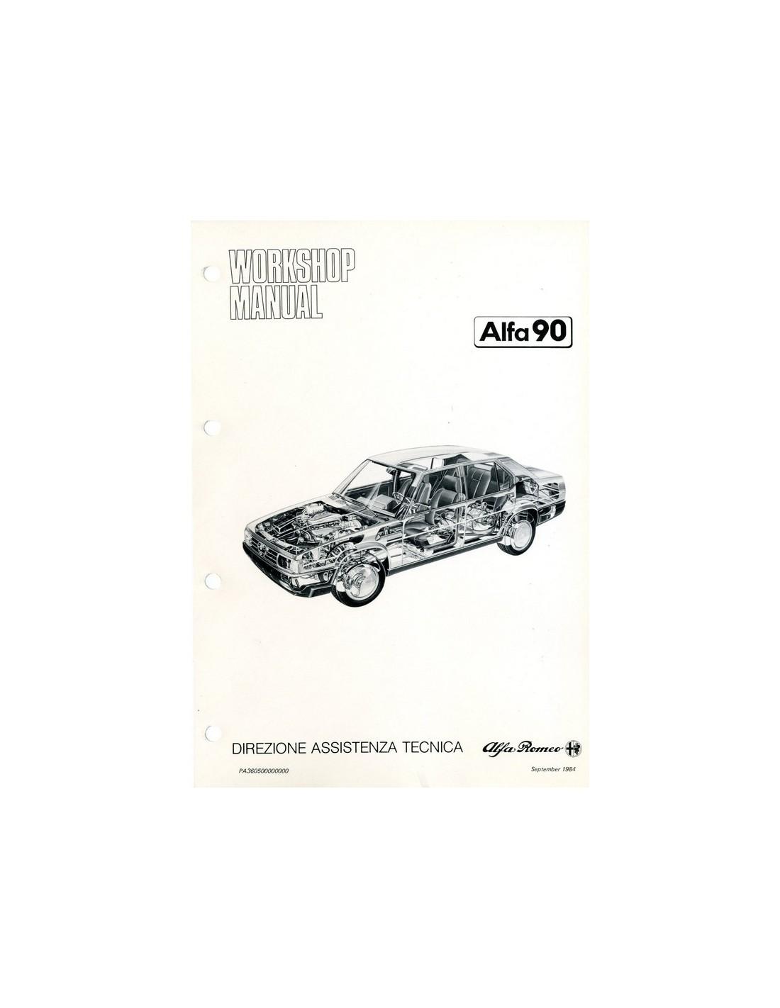 1984 ALFA ROMEO 90 WORKSHOP MANUAL ENGLISH
