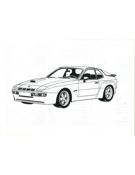1981 PORSCHE 924 CARRERA GT OWNER'S MANUAL GERMAN