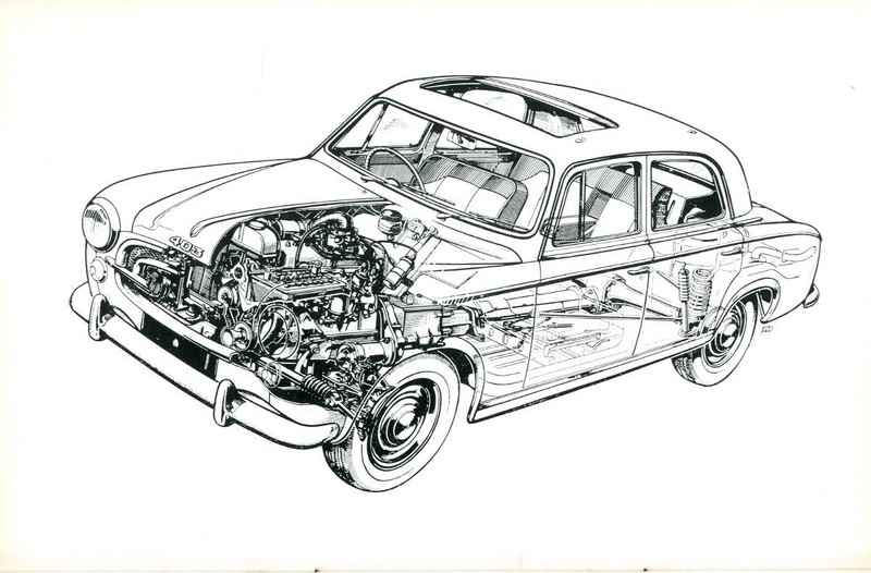 1963 PEUGEOT 403 OWNER'S MANUAL ENGLISH