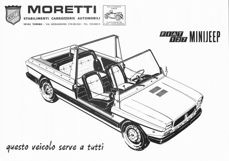 197? MORETTI FIAT 127 MINIJEEP LEAFLET ITALIAN