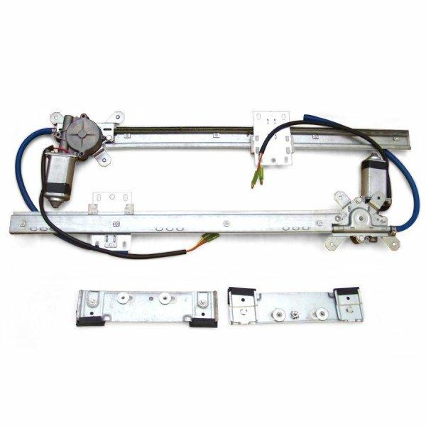 2 Door Flat Power Window Kit U-Wire Driver/Passengers