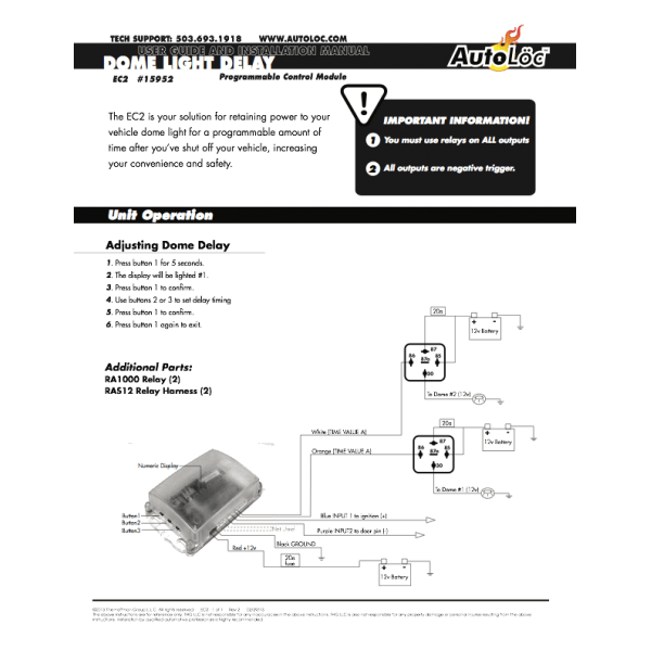 Dome Light Delay Control Module « autoloc.com