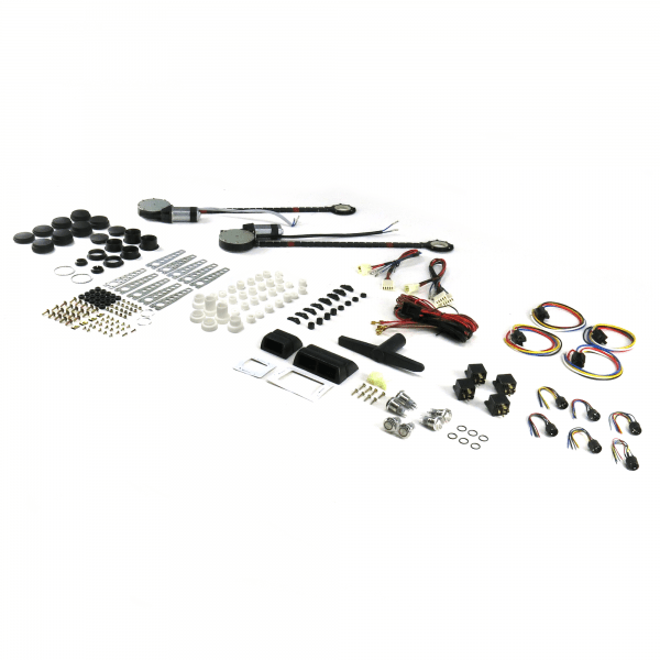 2-Door Power Window Kit with 3 Daytona Billet Switches