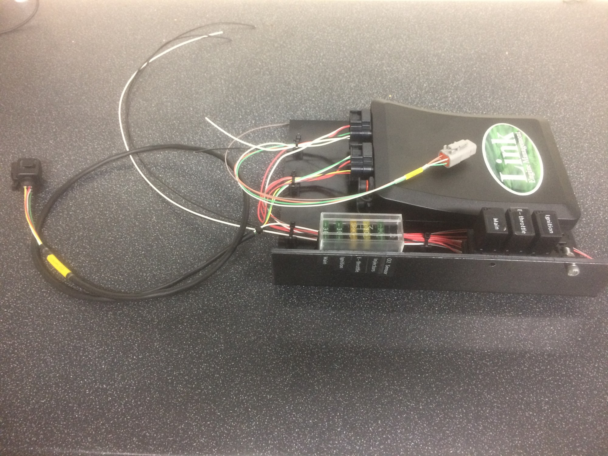 hight resolution of link fury aftermarket ecu with custom mounting board fuses and relays