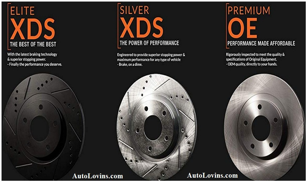 Max Brakes Rear Premium OE Rotors and M1 Supreme Pads Brake Kit KM166042-5