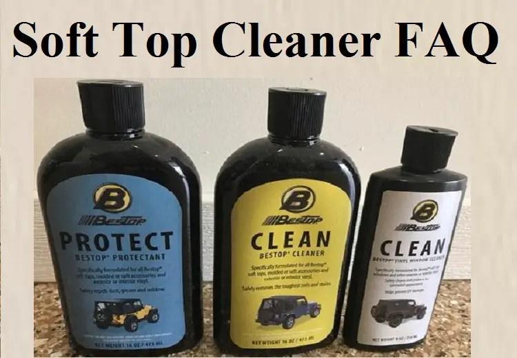 soft top cleaner faq