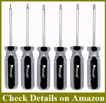 6 Piece Star Bit Screwdriver Set with Magnetic Tips