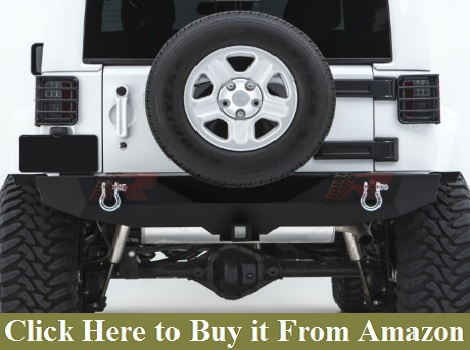Razer Auto Black Textured Rock Crawler Stubby Front Bumper with OE