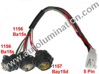 trailer light wiring diagram 5 wire for autometer tach automotive car truck bulb connectors sockets harnesses tail brake reverse turn signal backup rear automotbile harness pigtail connector