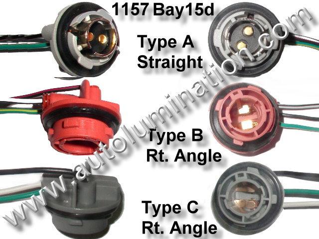 truck lite led headlight wiring diagram motion sensor light switch automotive car bulb connectors sockets harnesses bay15d 1157 2357 plastic twist lock pigtail socket connector