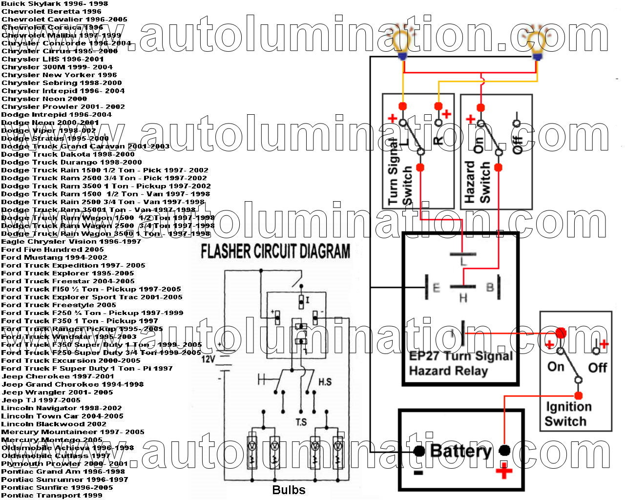 hight resolution of led flashers electronic flashers led protectors load 1996 chevy pickup wiring diagrams 1996 s10 2 2l