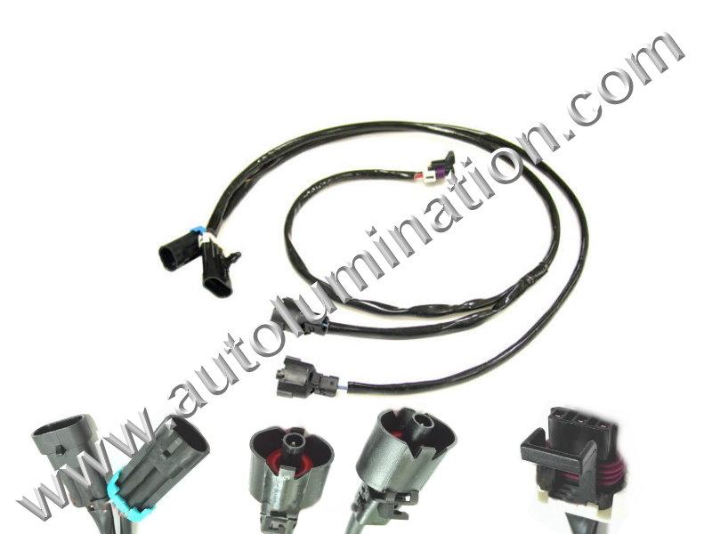Ls1,Ls6 To Ls2 Ls3 Engine Knock Sensor Connector Harness
