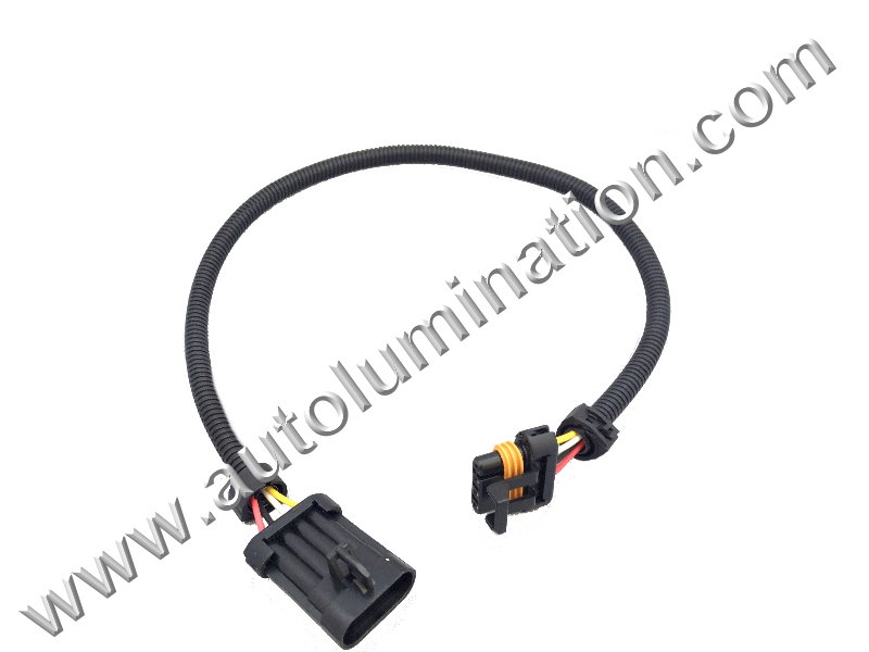 6ft flat 4 wire harness extension
