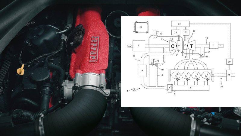 Ferrari Vier Zylinder Patent