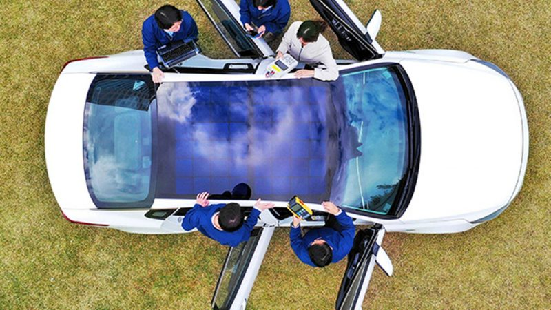 Hyundai/Kia Solarpanele am Dach-außen