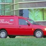Van Ford Ecostar elétrica.