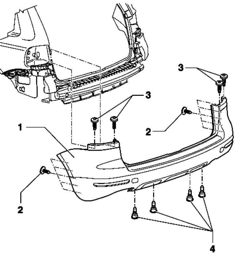 Removing and installing rear bumper fascia. Volkswagen