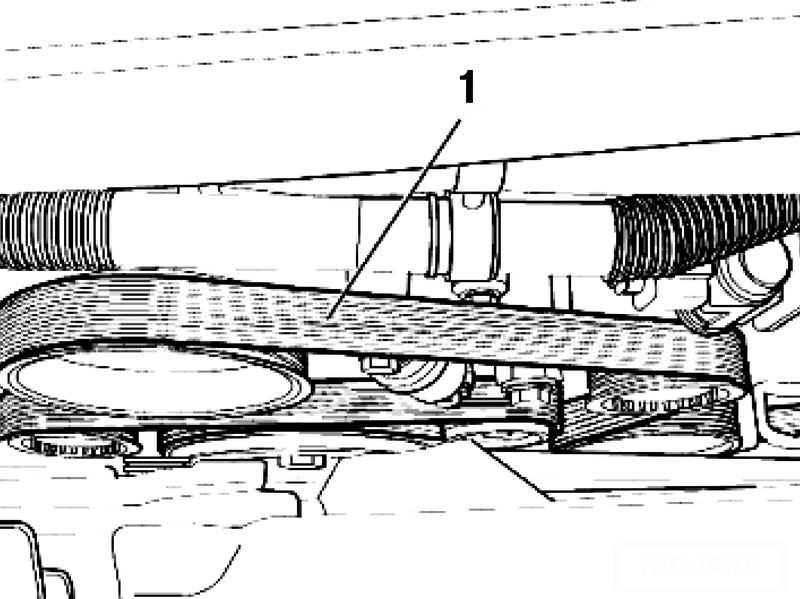 Checking the V-ribbed belt. Volkswagen Touareg (from 2003