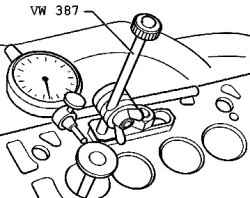 Checking the valve guides. Volkswagen Touareg (from 2003