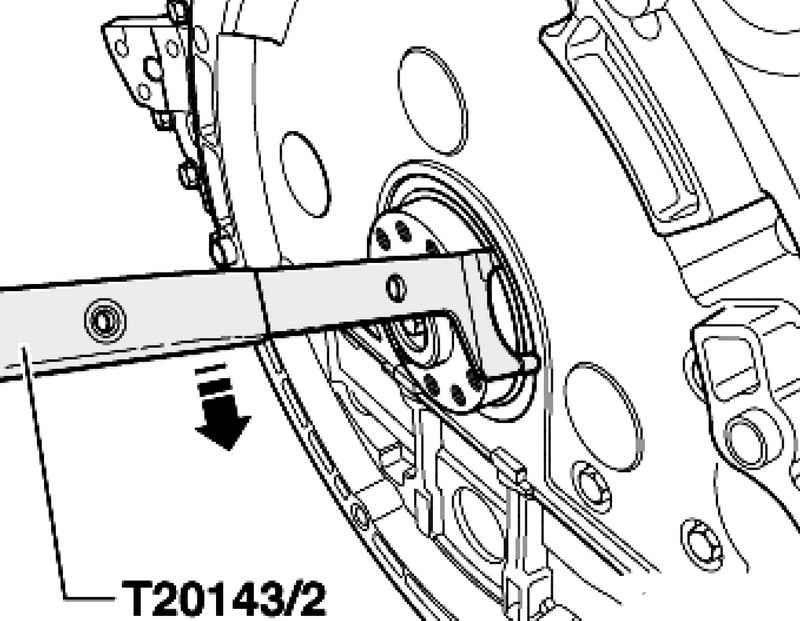 Replacement of the crankshaft oil seal on the side of the