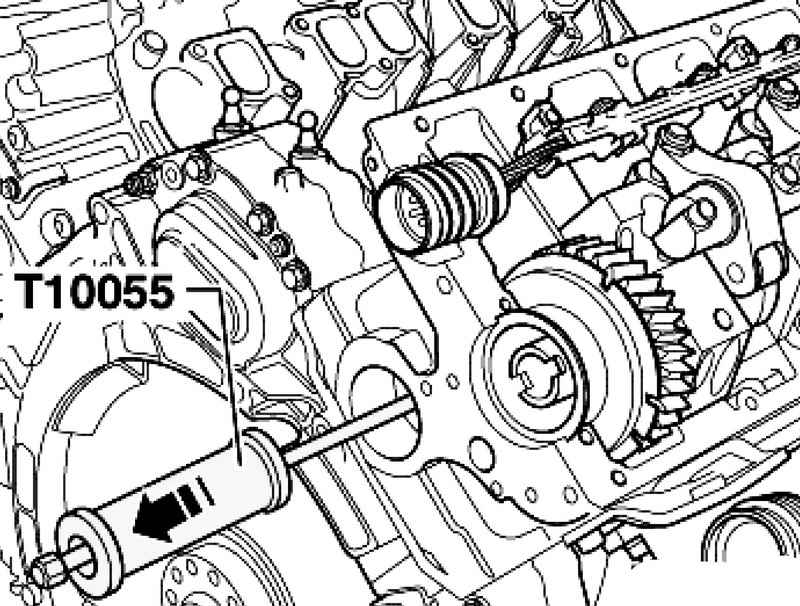 Removing and installing the camshaft pinion. Volkswagen
