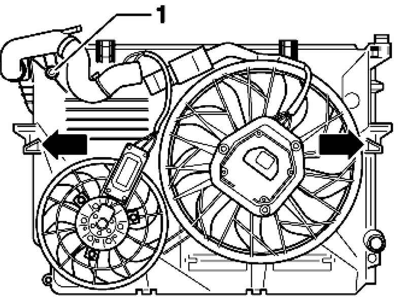 Removing and installing mounting fan. Volkswagen Touareg
