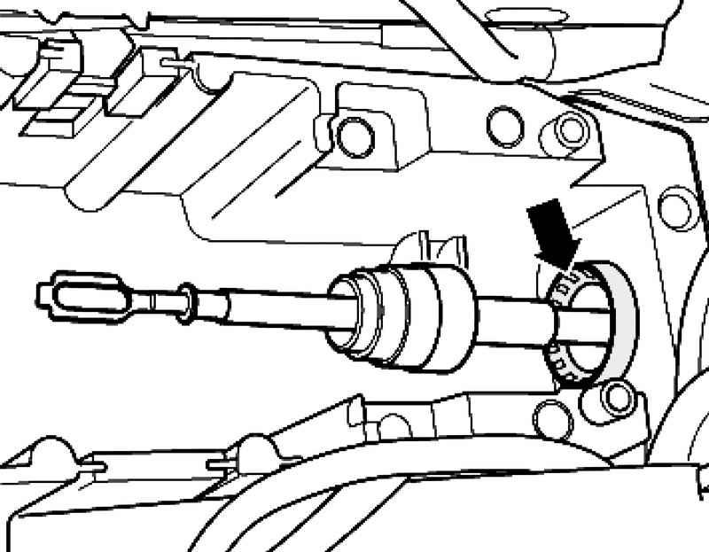 Removing and installing selector rods. Volkswagen Touareg