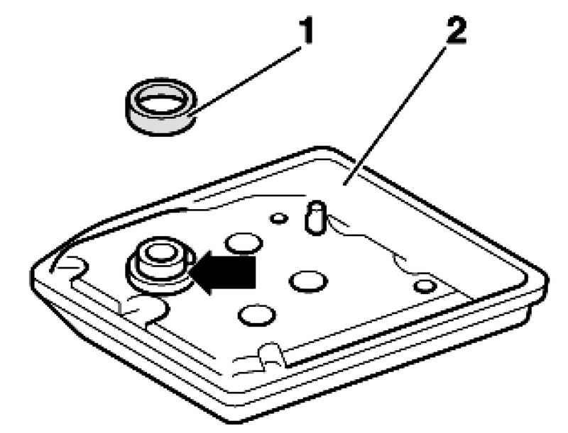 Removing and installing oil strainer. Volkswagen Touareg