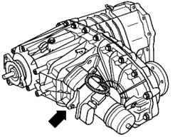 Marking the transfer case. Volkswagen Touareg (from 2003