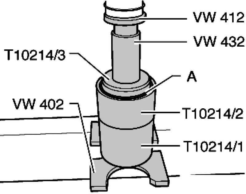 Replacing the rubber bearing bracket Transmission