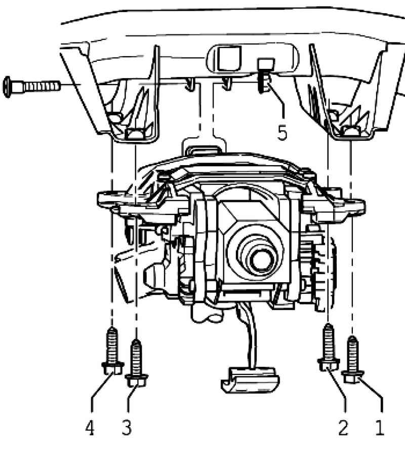 Removing and installing steering column. Volkswagen