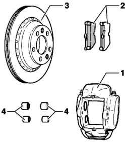 Rear brakes. Volkswagen Touareg (from 2003 to 2006, the