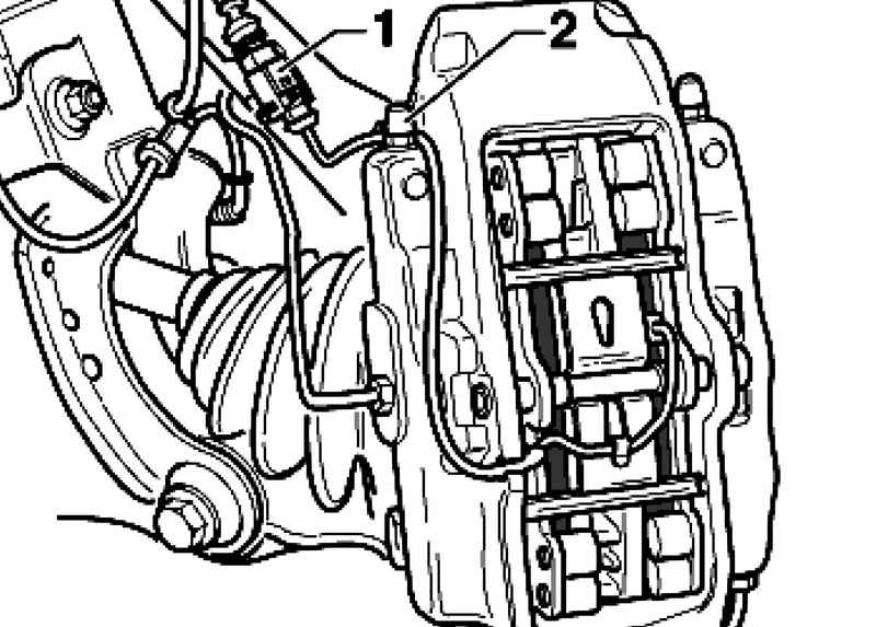 Removing and installing brake pads. Volkswagen Touareg