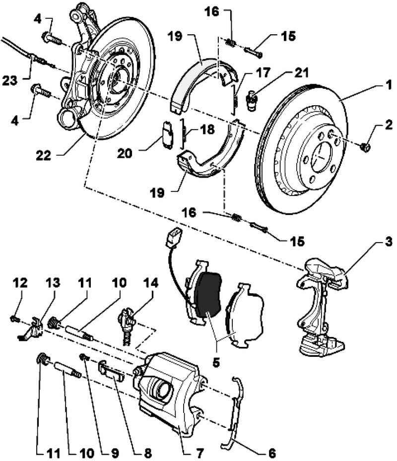 Repair rear wheel brakes, brake caliper FN 44. Volkswagen