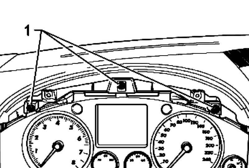 Removal and installation of the instrument cluster