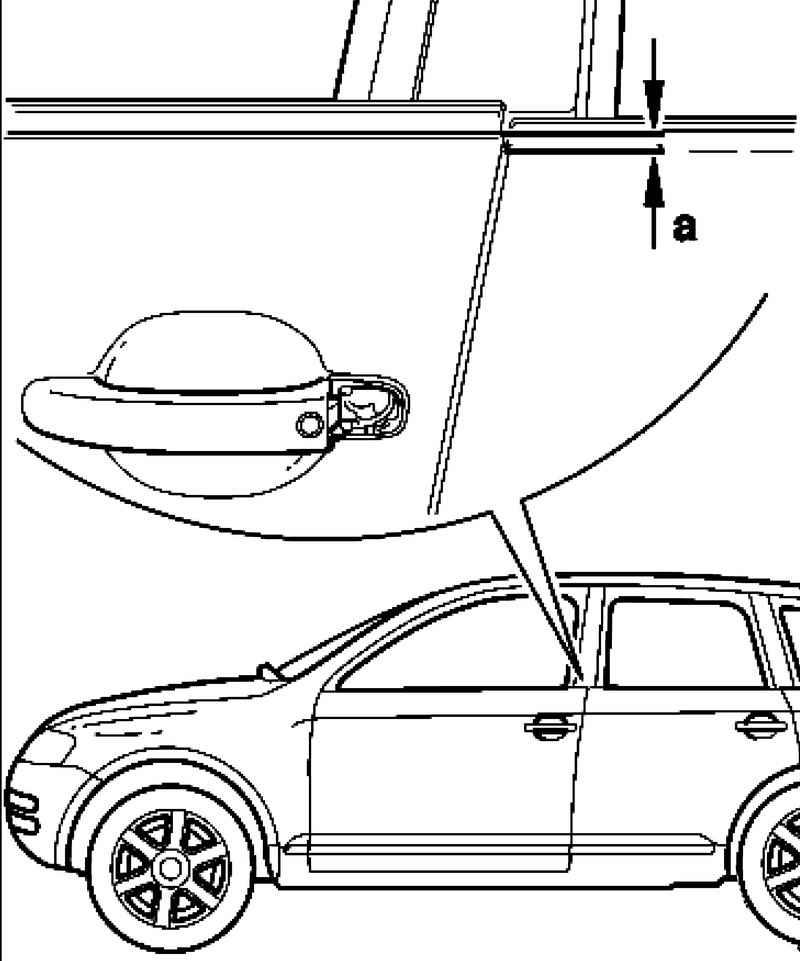 Adjusting the door. Volkswagen Touareg (from 2003 to 2006