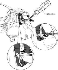 Removal and installation of door handles. Volkswagen