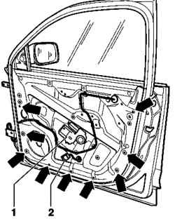 Removing and installing door lock. Volkswagen Touareg